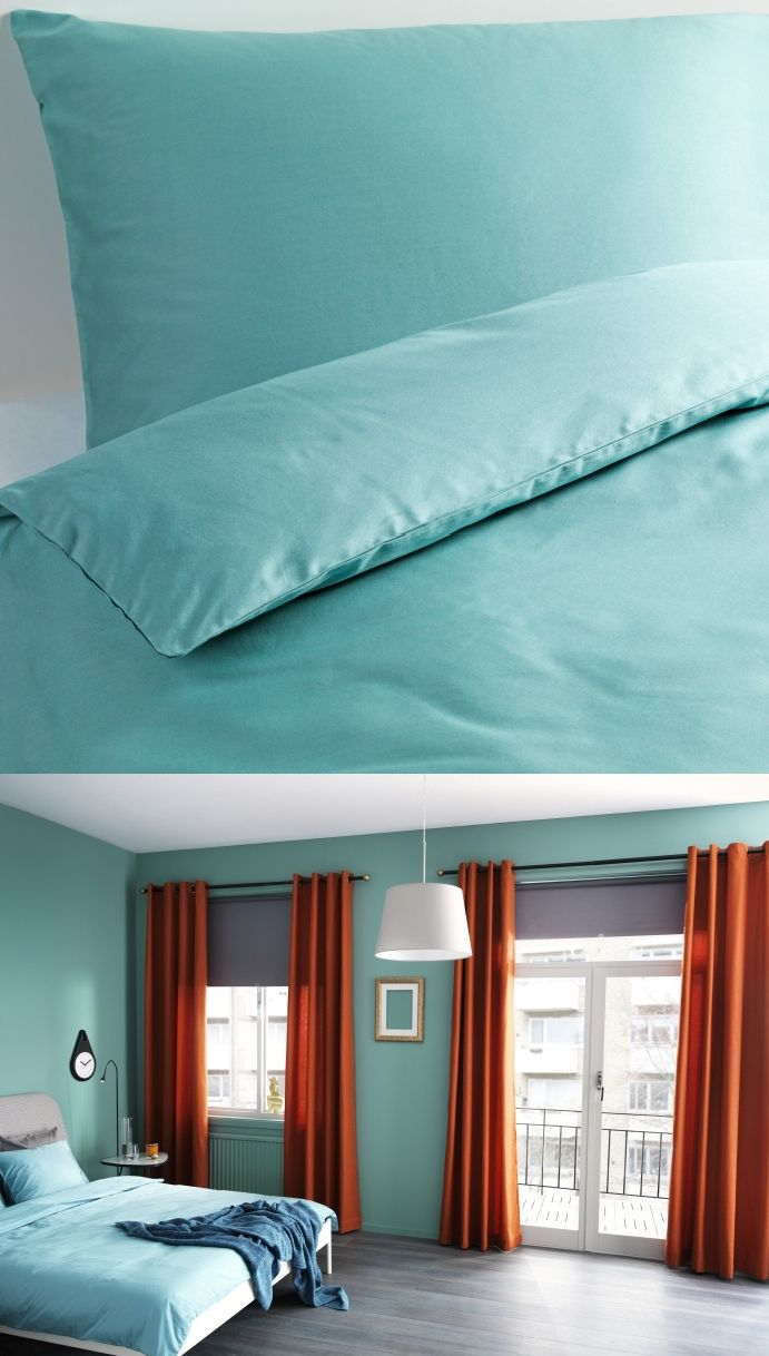 Relax and rejuvenate in the calming cool of GASPA turquoise bedding.