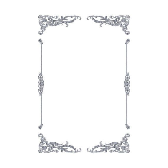 Frame, border, ornament, pattern, machine embroidery design