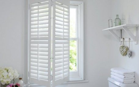 classic shutters and blinds in white finish