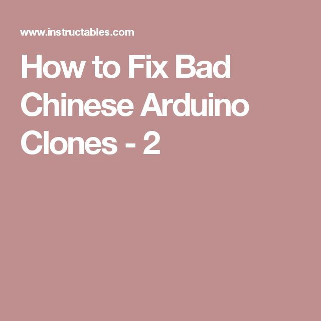 How to Fix Bad Chinese Arduino Clones - 2