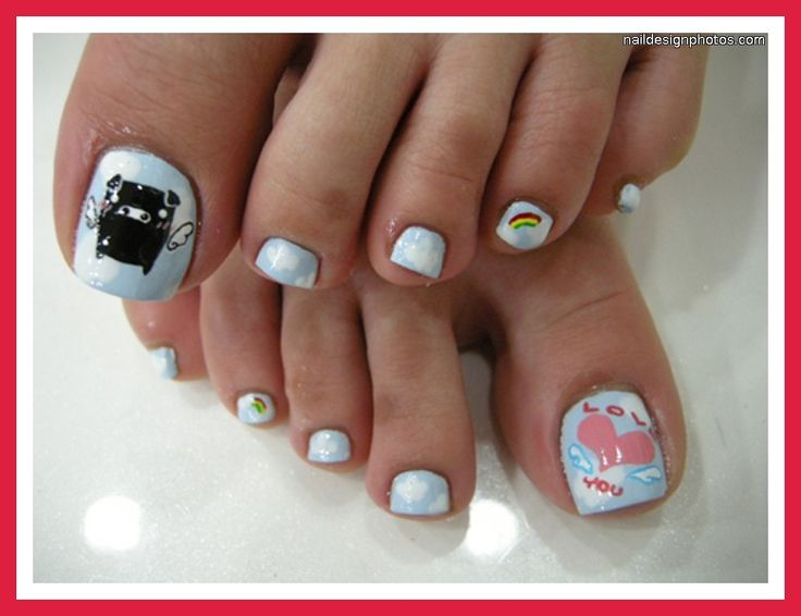 1000 images about pretty toe nail art on pinterest nail - Cute nail polish designs to do at home ...
