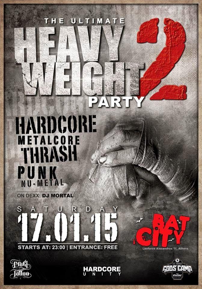 HEAVY WEIGHT vol.2 @ Bat City 17 Ιαν 2015 - Heavy Living, Heavy Metal & Rock Music