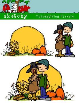 Thanksgiving / Autumn / Fall Clipart Freebie 300dpi Color, Gray, BW Transparent