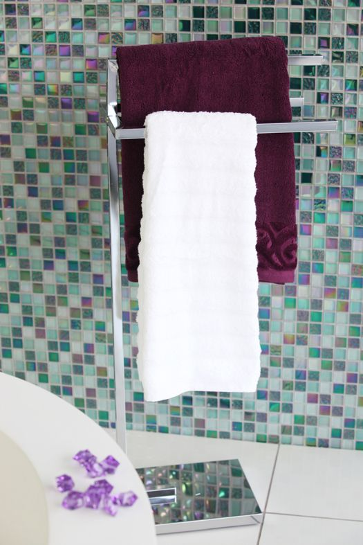 Tiles are ideal to add a splash of #colour, they're easy to clean and create magic in the bathroom