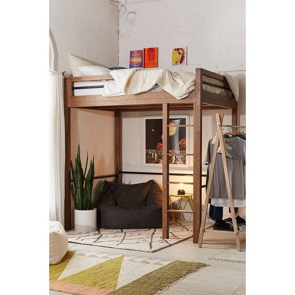 Fulton Loft Bed ($1,879) ❤ liked on Polyvore featuring home, furniture, beds, tropical furniture, eco friendly furniture, urban outfitters bed, urban outfitters and ladder furniture