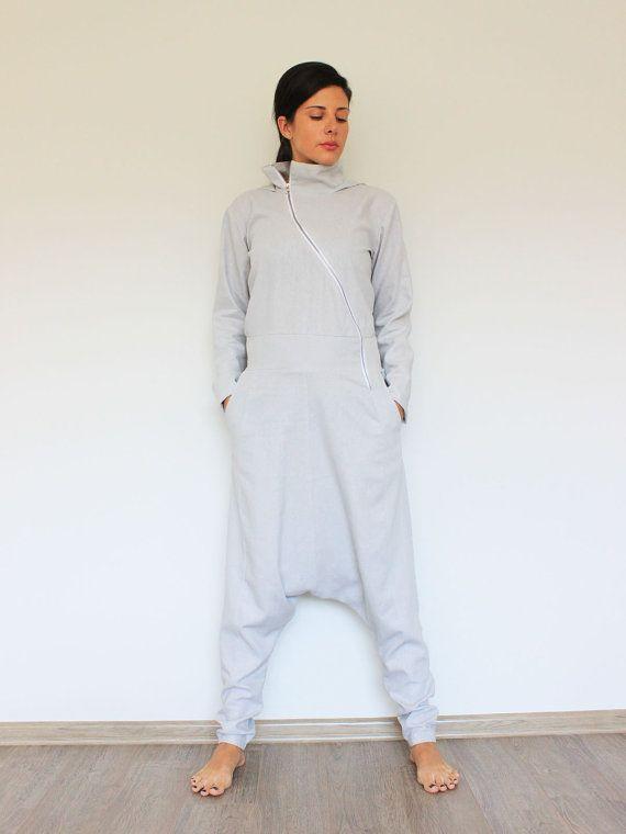 Linnen jumpsuit linnen broek vrouwen jumpsuit door linenOnlyDesign