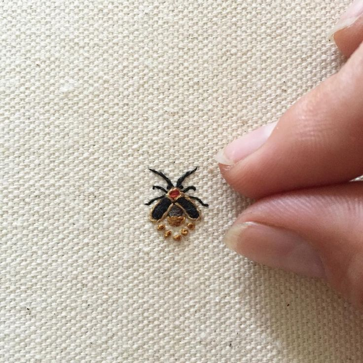 lightning bug/firefly: first attempt #tinycupneedleworks