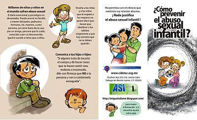 Materiales Para La Prevención y Visualización del Abuso Sexual Infantil: FOLLETO PARA PREVENIR
