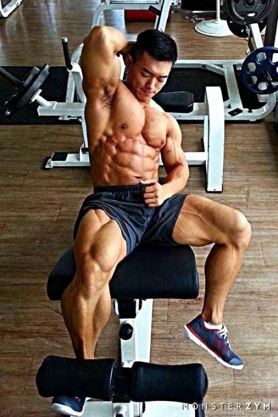Video clips of asian bodybuilding workouts suggest
