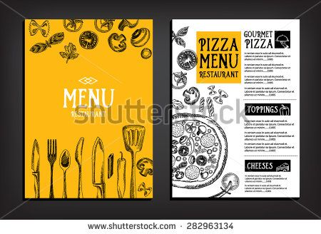 Best Menu Pizza Brochure Design Images On   Flyer