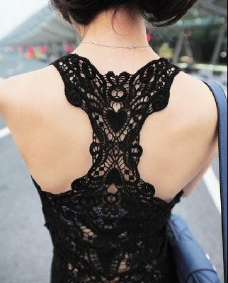 Crochet lace back