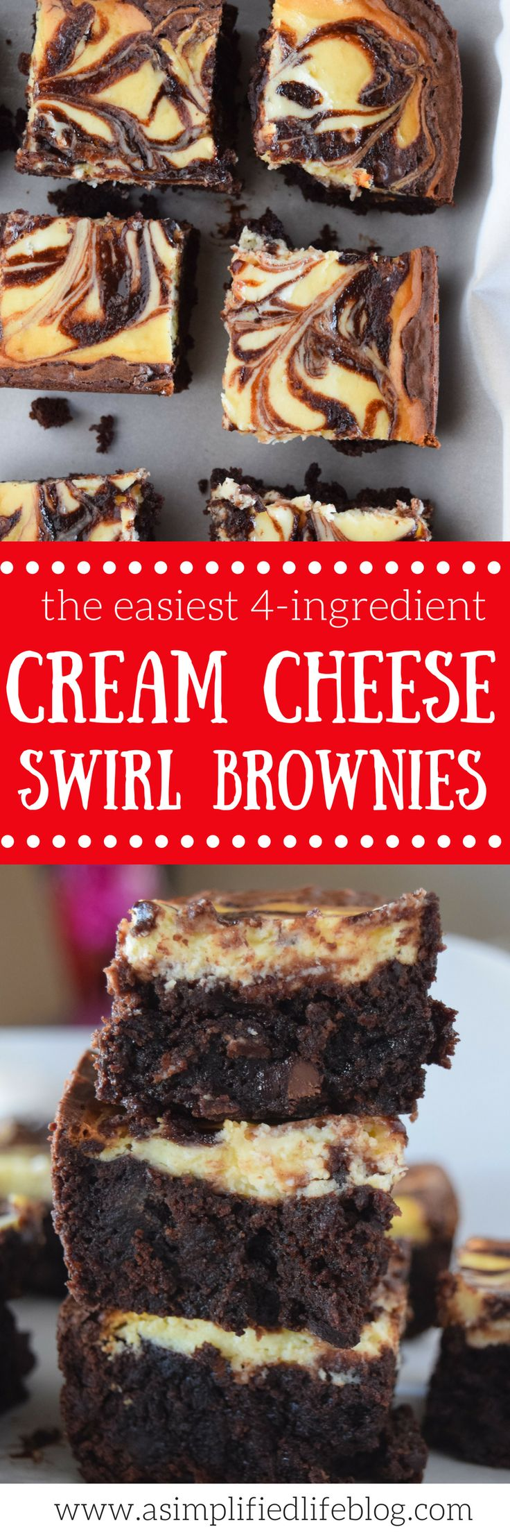 Cream Cheese Swirl Brownies | Posted By: DebbieNet.com