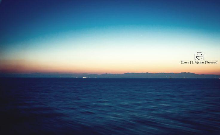 Sunset in Sea - Fb: facebook.com/enea.mds Twitter: @EneaHany Instagram: eneah.px