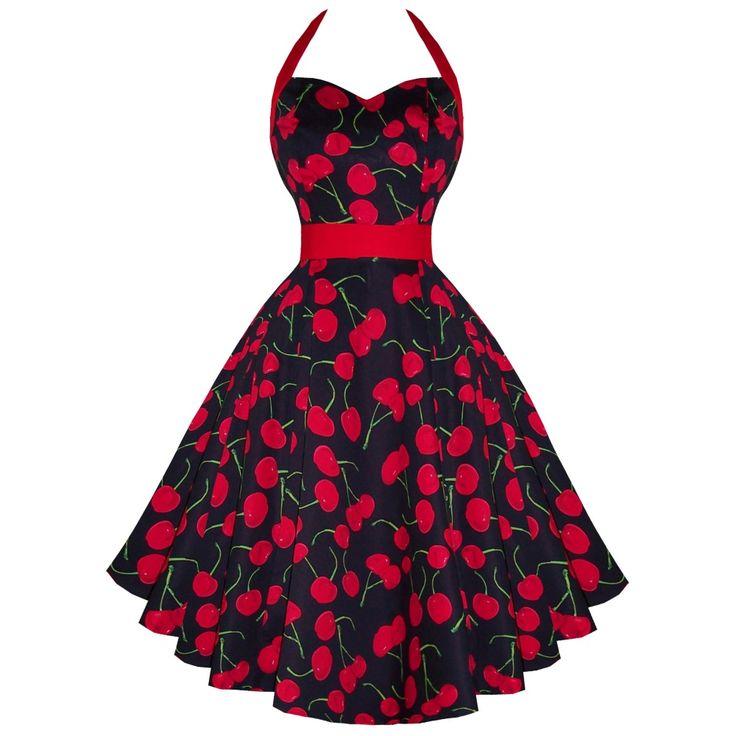 photo n°1 : Robe PIN-UP rétro noire et rouge H&R LONDON