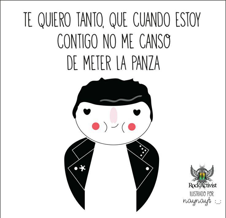 Te quiero tanto, que cuando estoy contigo... #Quotes #Ilustraciones by Nayelly Tenorio