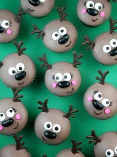Deer mini cupcakes