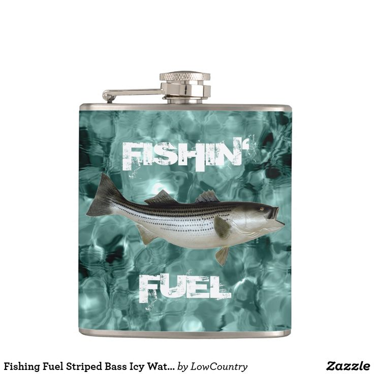 #Fishing #Fuel Striped #Bass Icy Water #Flask