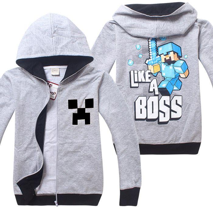 Детская кофта Майнкрафт - Like a Boss