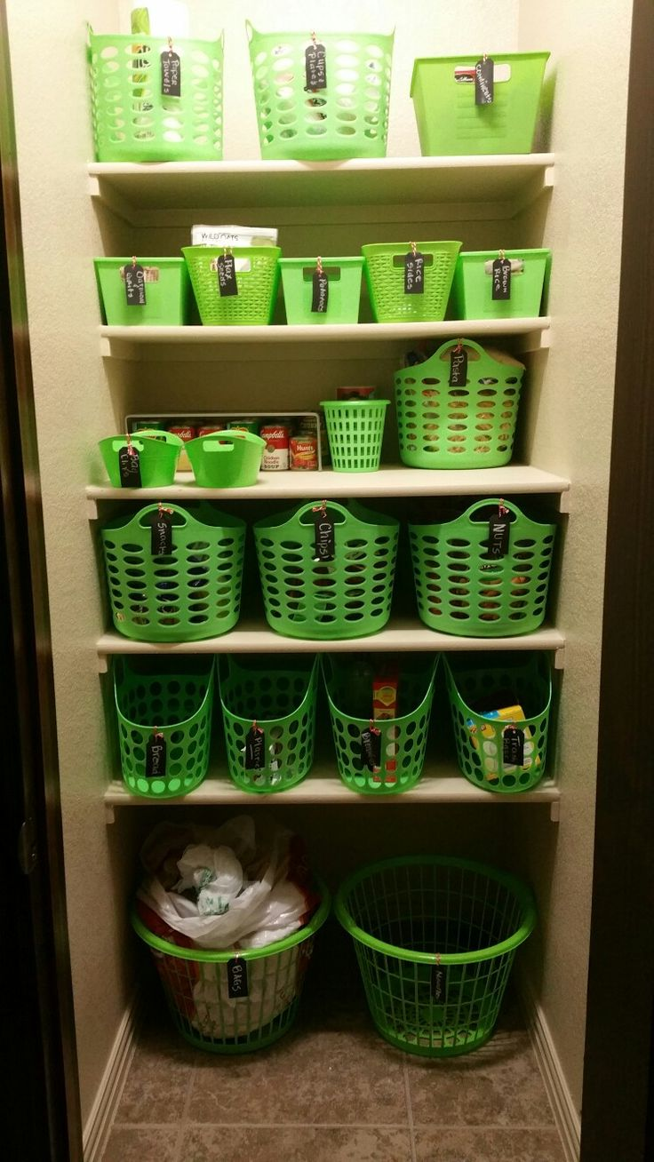 Pantry Organization With Dollar Tree Baskets And Target