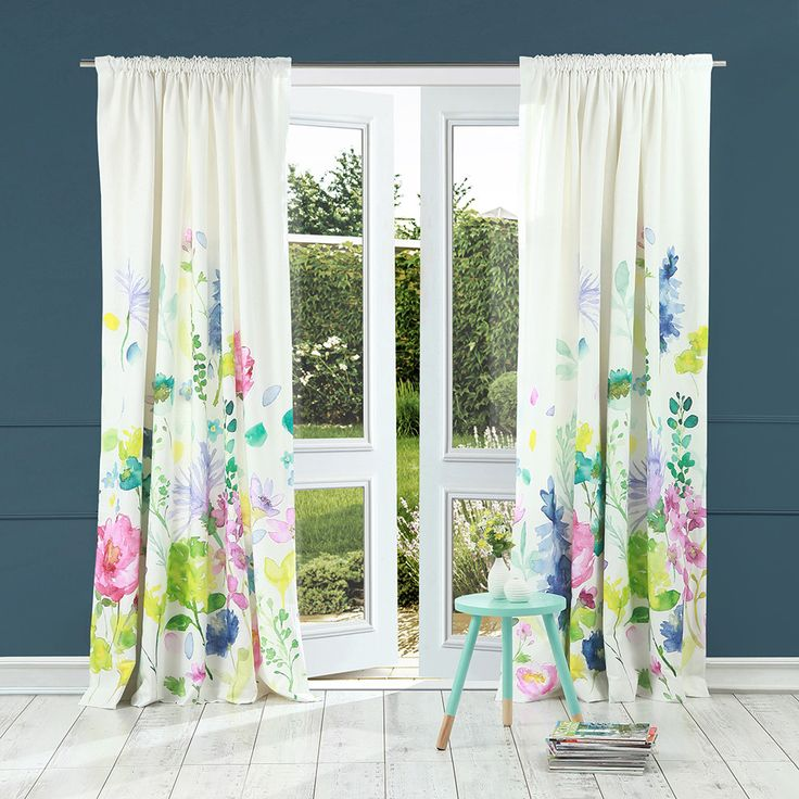 Discover the Bluebellgray Tetbury Meadow Pencil Pleat Curtains - 137x168cm at Amara