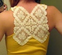 Lace Back Tank - add lace to your racer back tank