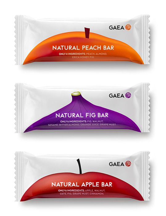 mousegraphics gives Gaea Fruit Bars a minimalistic new #packaging #design.