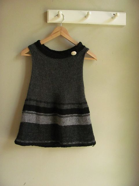 This is the same patatern as the Knitted Child's Vest I just posted!  Even nicer!  Knitted Sweater Dress Child's