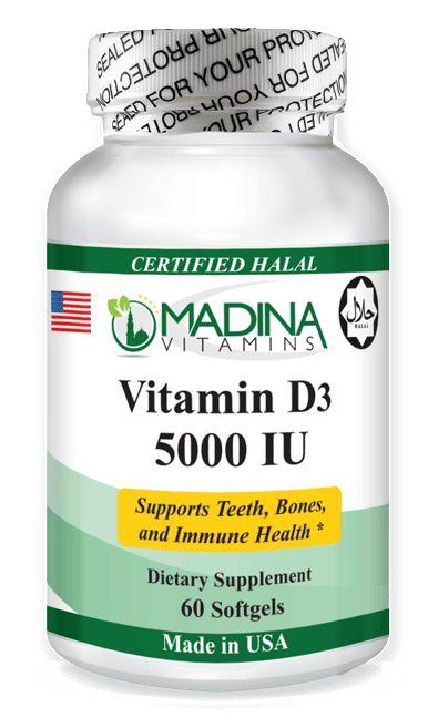 Vitamin D3 Softgels 5000 IU