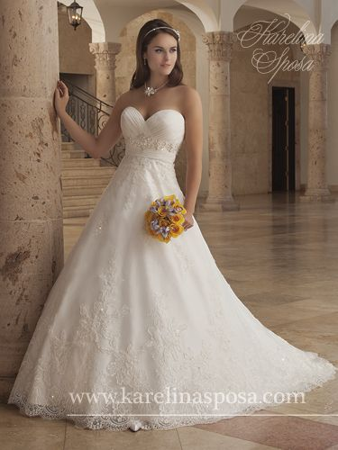 Karelina Sposa! Mary's Bridal Dress! Love it! Originally Pinned by @Gracie Navarro
