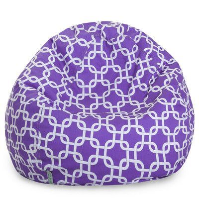 Brayden Studio Danko Bean Bag Chair Upholstery: Purple