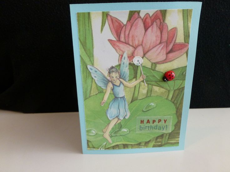 Fairy Birthday card, perfect for a little girl or whimsy loving adult. - PeppyPaper