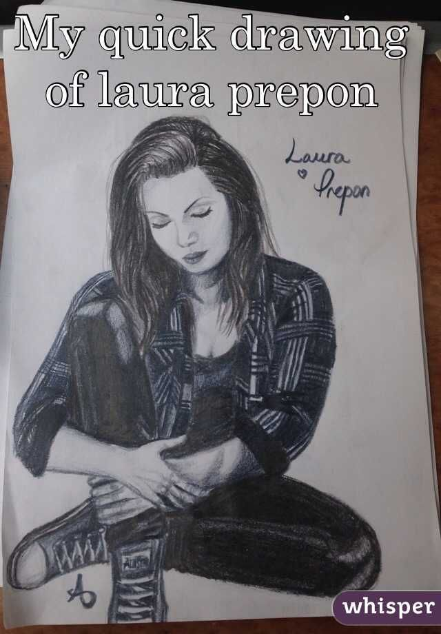 """My quick drawing of laura prepon """