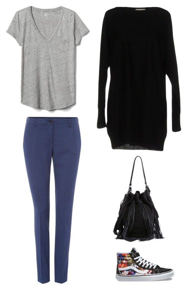 """tenis colorido"" by iona-dourado on Polyvore featuring Vans, Armani Jeans, Gap, Le Tricot Perugia and Loeffler Randall"