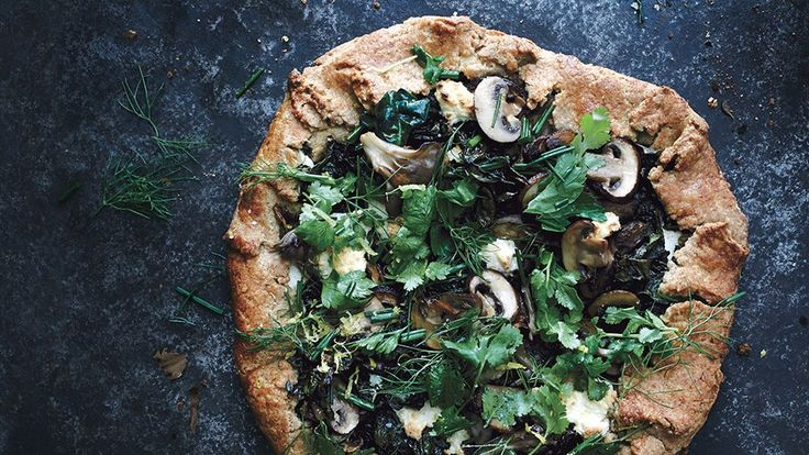Selling skeptics on the idea of a vegetarian dinner is easy when it's in pie form. Maitake mushrooms add heft.