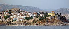 Widok na stare miasto w Kawali w Grecji, miejsce narodzin Muhammada Alego