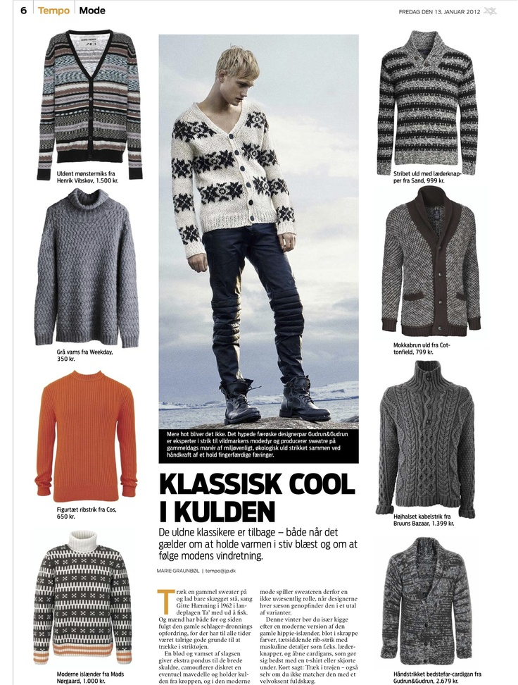 Our cotton sweater is in the march issue of the music magazine Soundvenue.