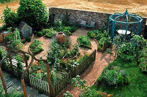 Potager Vegetable Garden: Potager Vegetables, Vegetables Gardens, Potager Gardens, Kitchens Gardens, Veggies Gardens, Gardens Design, Dreams Gardens, Vegetable Garden, Yard Ideas