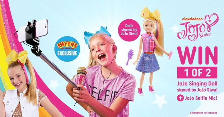Last chance to win our JoJo bundle competition! 💜 Win 1 of 2 bundles which include a JoJo Singing Doll signed by JoJo Siwa and a JoJo Selfie Mic, exclusive to Smyths Toys 😄 Like this post and tell us the name of your favourite JoJo song to enter 🎤🙆♀ Ends tonight 17th November. #cuteitems #watch #sunglasses #toys #noveltytoys