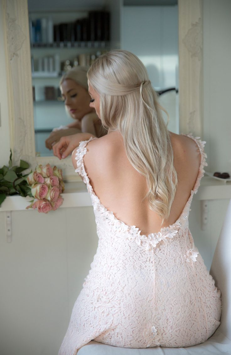Forlover, kjole med åpen rygg, Nina Thorsø Couture. I den Lille Frisørsalong