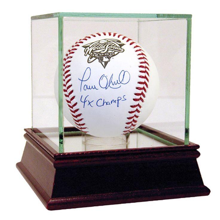 "Steiner Paul O'Neill Signed 2000 World Series Baseball w/ ""4x Champs"" Insc."