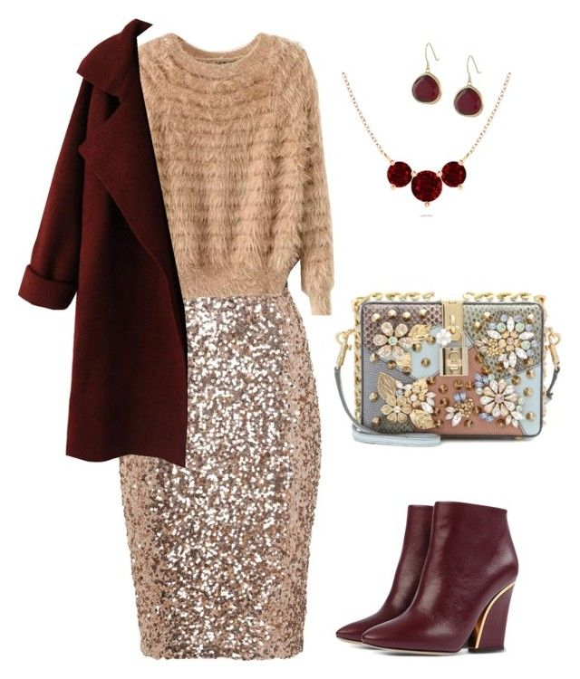 """""""Evening"""" by valeria-verde on Polyvore featuring French Connection, Chloé, WithChic, Dolce&Gabbana, Karen Kane, women's clothing, women's fashion, women, female and woman"""