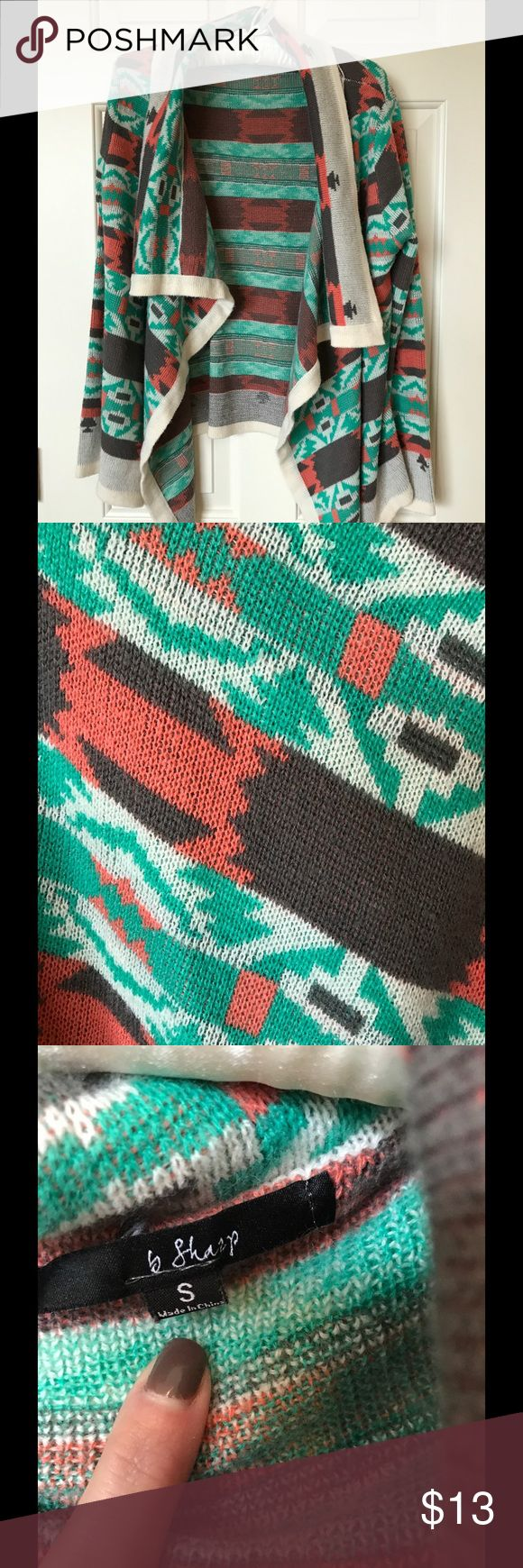 Small Aztec cardigan sweater Small Aztec cardigan sweater Sweaters Cardigans