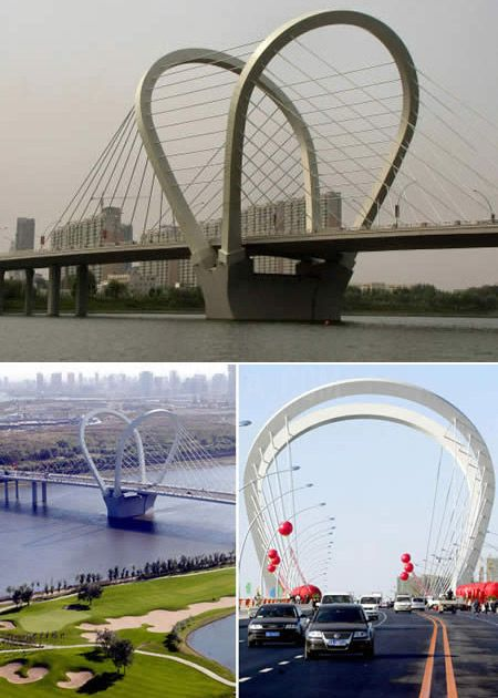 Puente Sanhao en Shenyang, China
