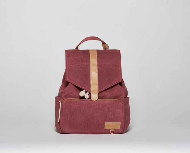 Mini-Ransel | Marsala (waxed canvas) Kids backpack, scandinavian style from itskaos.com