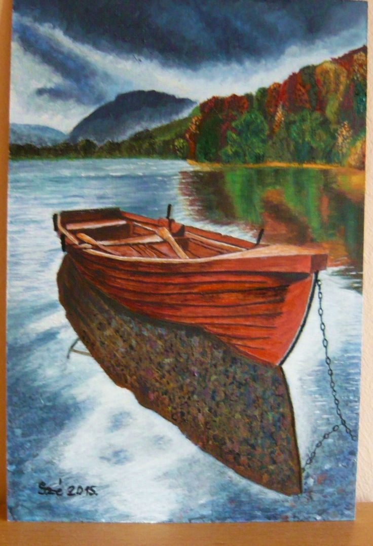 Created by:Szöllős  Éva - Boat - acrylic, 20x30 cm wallboard. Original: Panasonic.com Innen pinelve: Uploaded by user