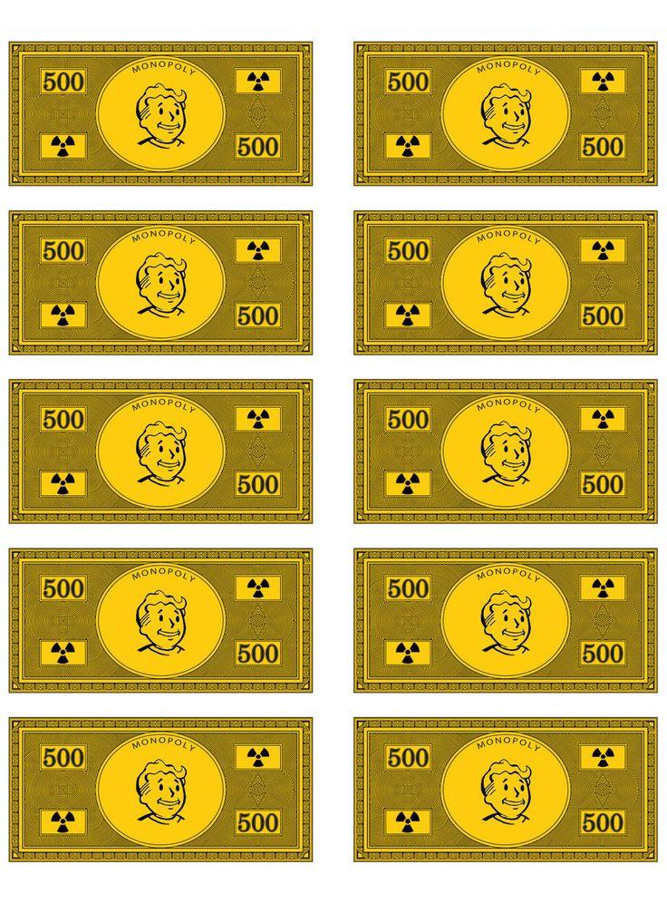 Fallout Monopoly Money by Ryamu1985.deviantart.com on @DeviantArt