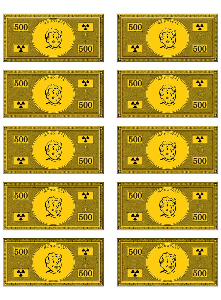 Fallout Monopoly Money by Ryamu1985.deviantart.com on @DeviantArt