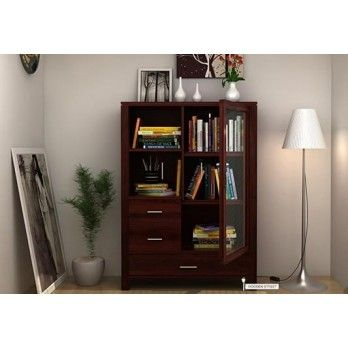Buy Pietro #Book #Case with Mahogany Finish Online at Wooden Street. Create a whole new look for your home with our fabulous collection of #living #room #cabinets for the perfect home decor. With our wide range of styles, you can find living room cabinets that will complement any home. Visit : https://www.woodenstreet.com/living-cabinets in #Lucknow #Ludhiana #Mumbai #Nagpur