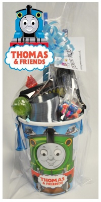 Thomas Party Goodie cups--- OMG this is perfect!!! :D  @Karla Pruitt Pruitt Melo-Phelan