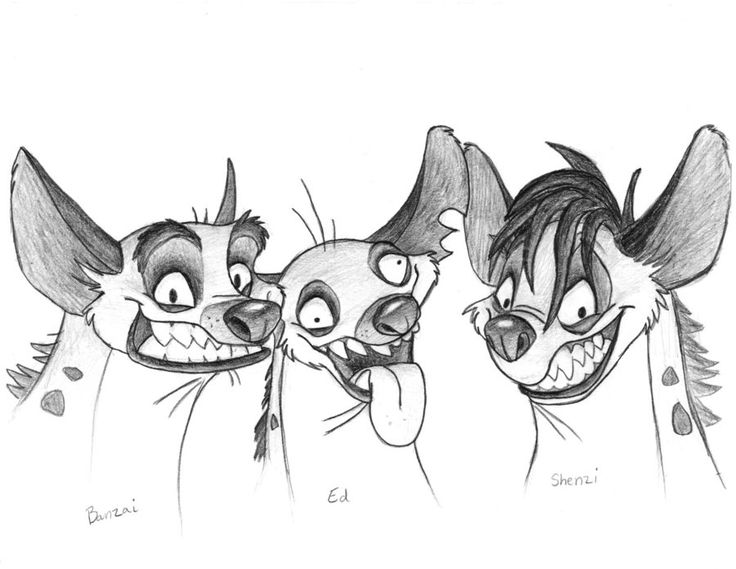 Lion King Hyenas by silvercrossfox on DeviantArt
